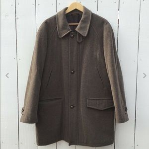 Vintage Made in Italy Wool Mid Length Overcoat